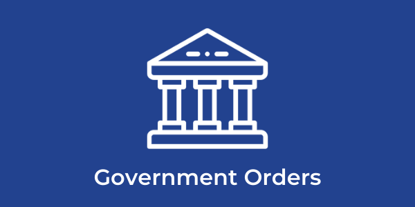 Government accounts and bulk orders